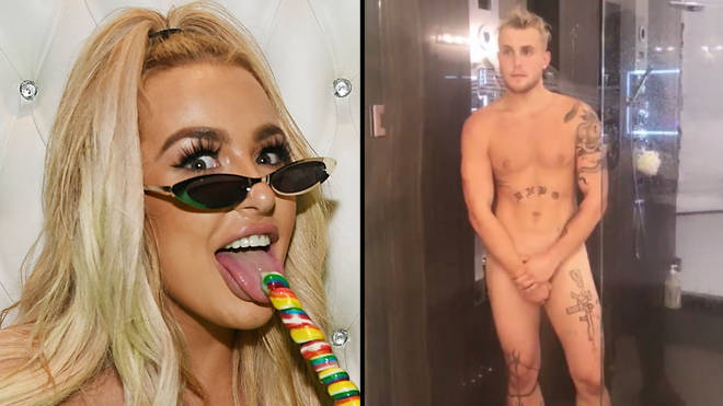 Tana Mongeau films Jake Paul naked in the shower and teases sex tape