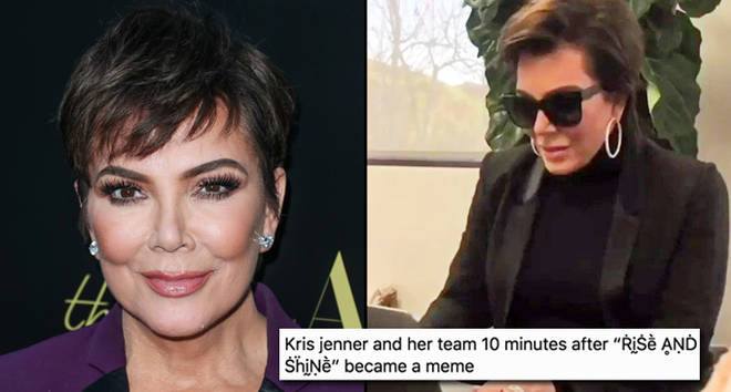 Kris Jenner on her laptop.