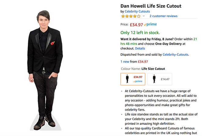 daniel howell life sized cutout amazon