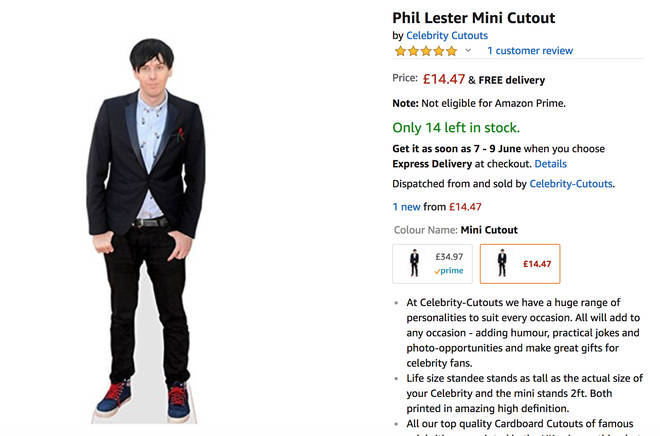 phil lester life sized cutout amazon