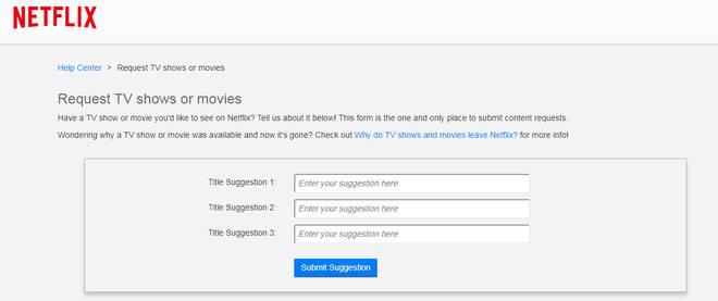 Netflix request center