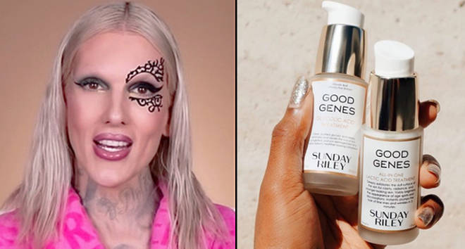 Jeffree Star YouTube video, Sunday Riley products.