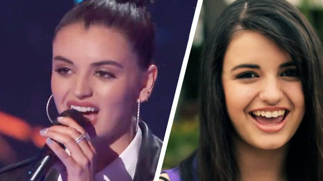 Rebecca Black in 2011 [right] and 2018 [left]