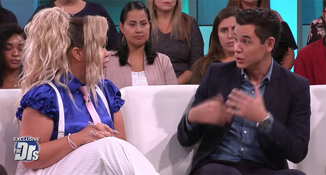 Trisha Paytas and Dr Mike Dow on 'The Doctors'