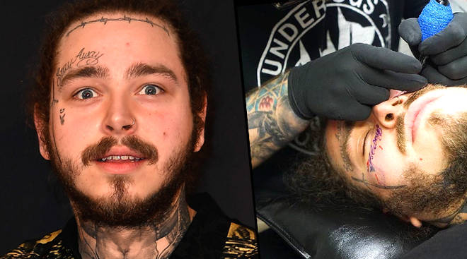 Post Malone Face Tattoo