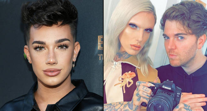 """James Charles attends Joey Graceffa&squot;s YouTube Original Series """"Escape The Night"""", Shane Dawson and Jeffree Star."""