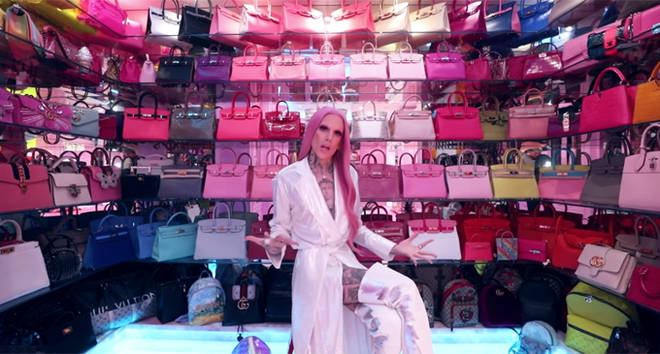 Jeffree Star's collection of Birkins.