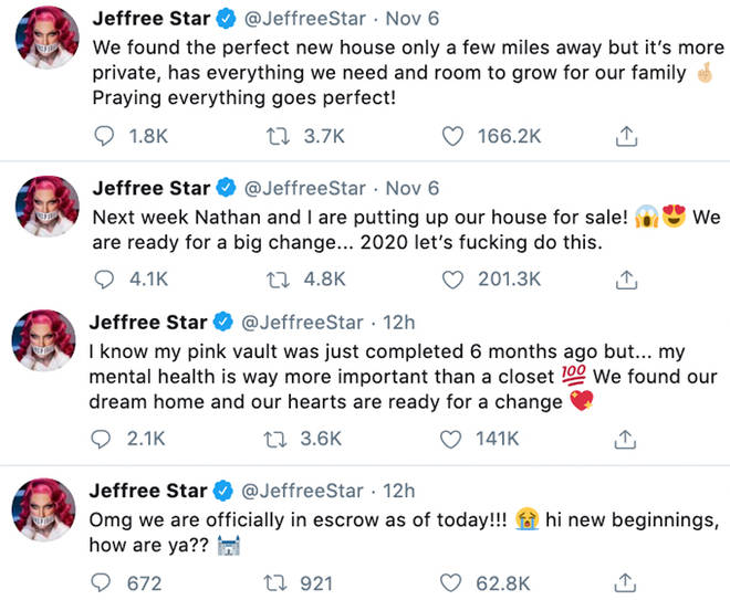 Jeffree Star Tweets.