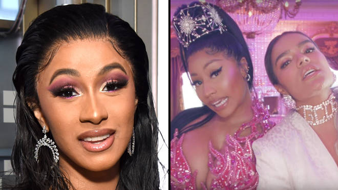 "Cardi B ""pulls up"" on Nicki Minaj fan to ""fight"" following Karol G &squot;Tusa&squot; feud"