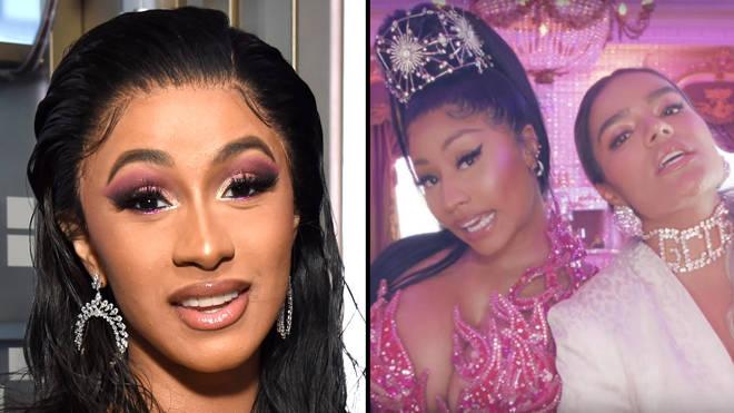 """Cardi B """"pulls up"""" on Nicki Minaj fan to """"fight"""" following Karol G &squot;Tusa&squot; feud"""