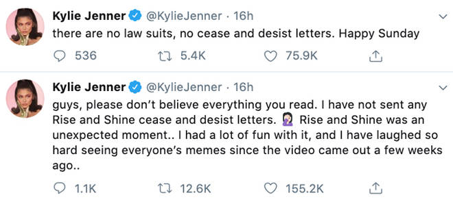 Kylie Jenner Tweets.