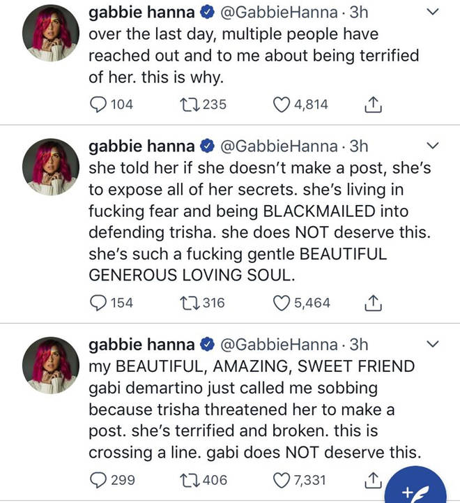 Gabbie Hanna Tweets.