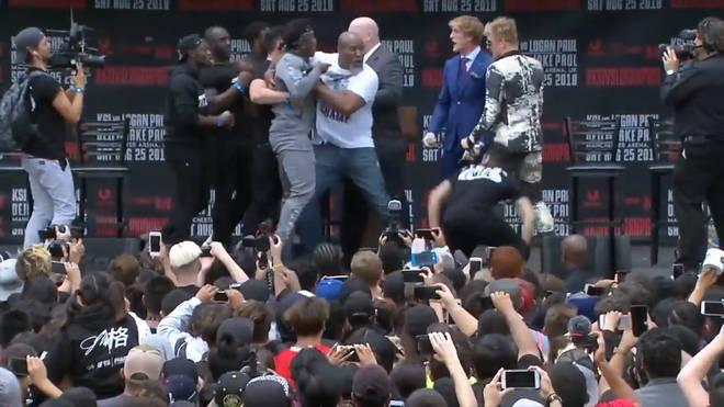 ksi logan paul fight press conference