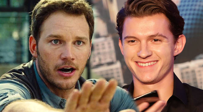 Chris Pratt Tom Holland Jurassic World
