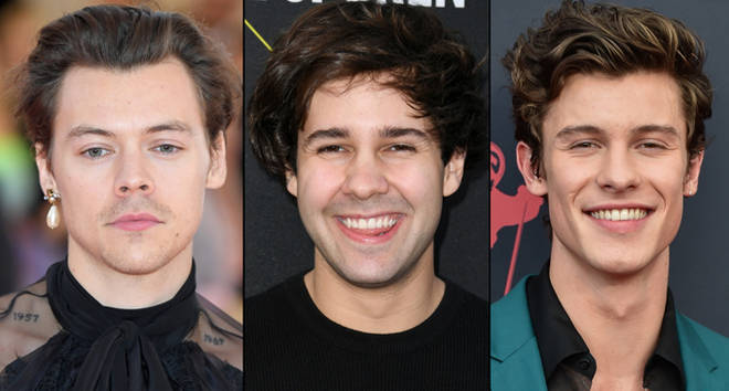 Harry Styles, David Dobrik and Shawn Mendes.