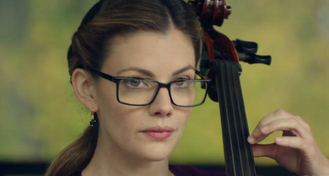 Miss Grundy was killed by the Black Hood with her cello bow