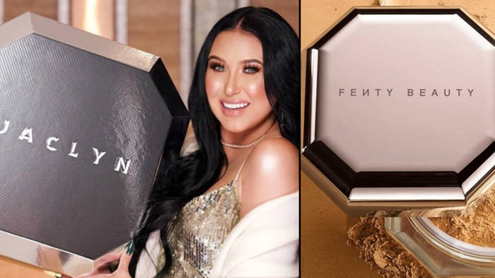 "Jaclyn Hill's new highlighter palette is being accused of ""ripping off"" Fenty Beauty"