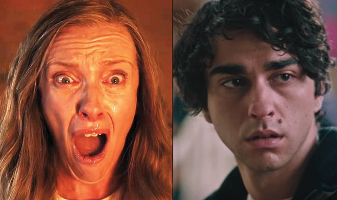 Hereditary screaming Toni Collette Alex Wolff