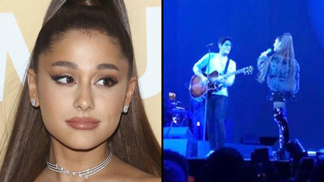Ariana Grande reunites with Victorious stars Liz Gillies and Matt Bennett on tour