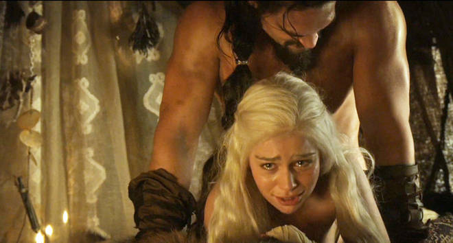 Daenerys and Khal Drogo.