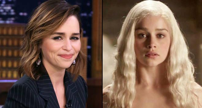 Emilia Clarke and Daenerys Targaryen.