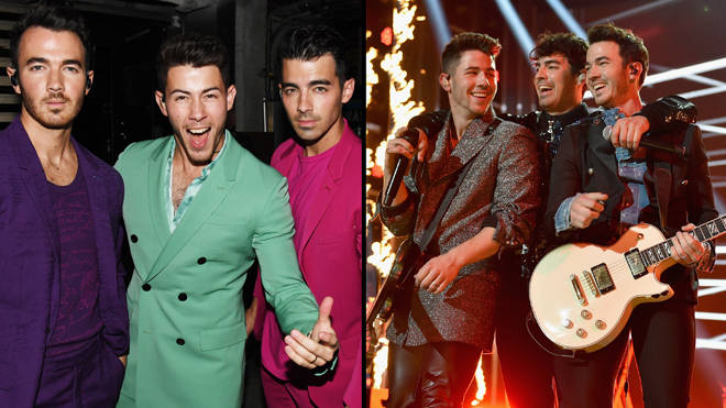 Jonas Brothers react to their first Grammy nomination since reuniting
