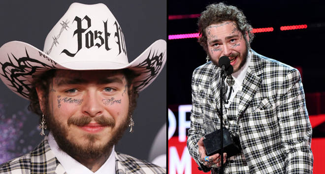 Post Malone attends the 2019 American Music Awards at Microsoft Theater.