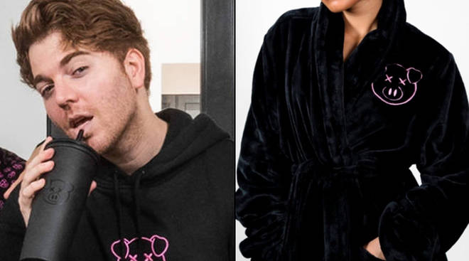 Shane Dawson's pig robe is coming to his merch store