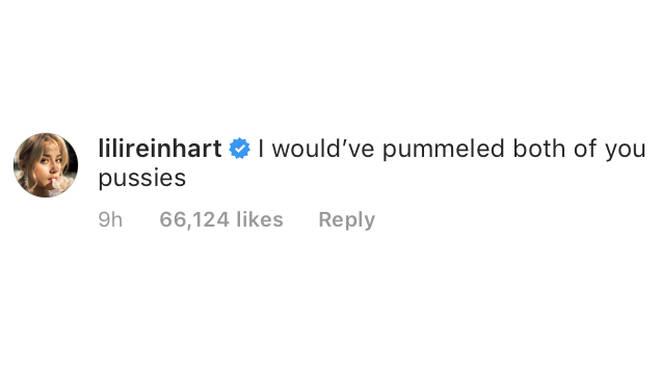 Lili Reinhart Instagram Comment