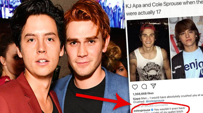 KJ Apa Cole Sprouse Instagram Beef